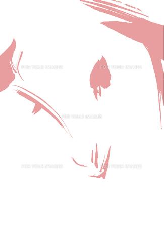 無地ピンク羊の顔の素材 [FYI00945534]