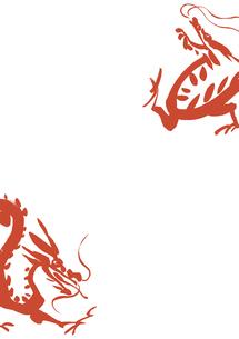 二匹の龍の素材 [FYI00945566]