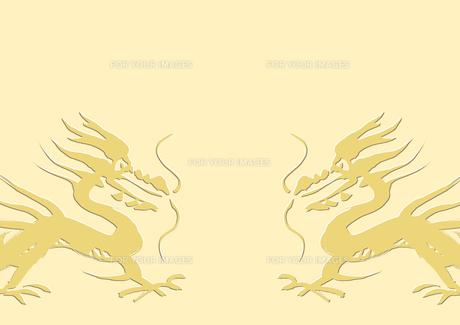 面する二匹の龍の素材 [FYI00945567]
