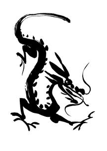 降りる龍の素材 [FYI00945713]