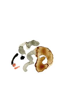 無地角持つ羊の頭部の素材 [FYI00945774]