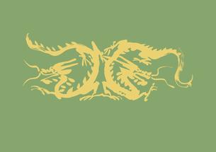 二匹の歩く龍の素材 [FYI00945813]
