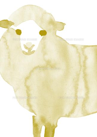 無地一色の羊の素材 [FYI00946133]