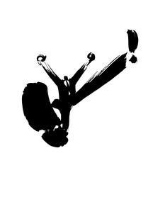 ジャンプするビジネスマン イラストの素材 [FYI00946242]
