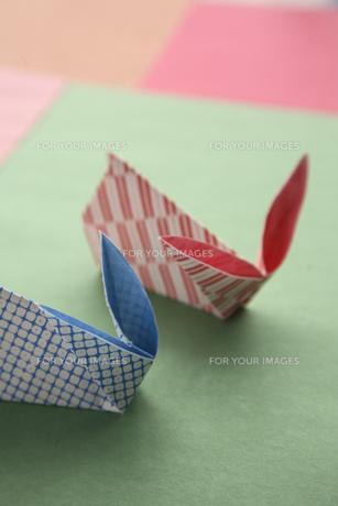 折り紙でつくったうさぎの素材 [FYI00947896]