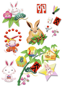 ウサギのイラストの素材 [FYI00949518]