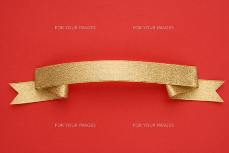 ゴールドのリボンの素材 [FYI00950035]
