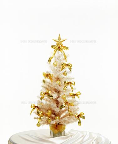 クリスマスツリー白の素材 [FYI00950470]