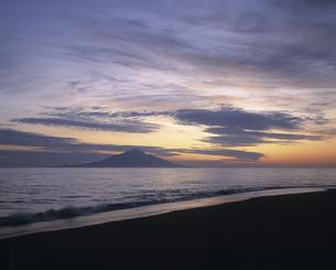 利尻島の夕暮れの素材 [FYI00953217]