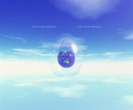 地球と雲のイメージ CGの素材 [FYI00954310]