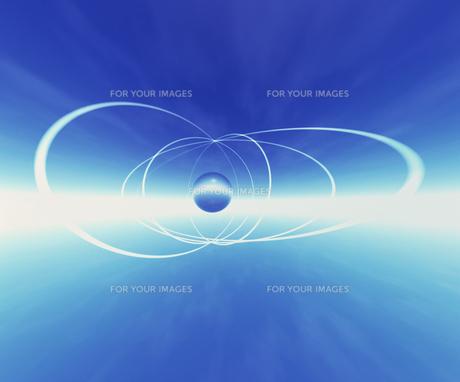 球体とリンクのイメージ CGの素材 [FYI00954317]