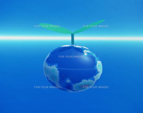 CG 地球の新芽の素材 [FYI00954344]