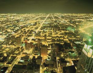 ジョンハンコックCより望む市街夜景の素材 [FYI00954512]