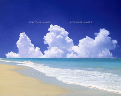 ビーチと雲の素材 [FYI00954741]