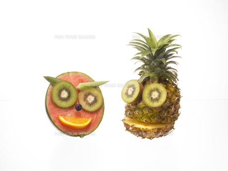 果物で作った顔の素材 [FYI00958311]
