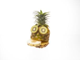 果物で作った顔の素材 [FYI00958353]