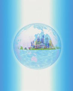 イラスト  地球とビルの素材 [FYI00959571]