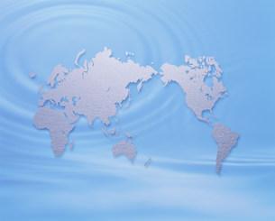 世界地図と波紋の素材 [FYI00959616]