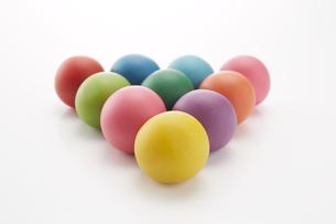 沢山のカラフルな粘土のボールの素材 [FYI00961418]