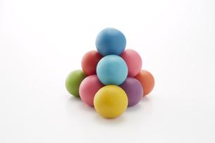 沢山のカラフルな粘土のボールの素材 [FYI00961455]