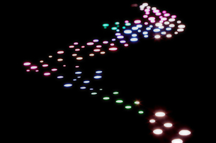 七色の光の点の素材 [FYI00961496]