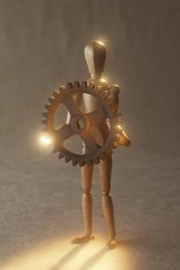 歯車を持つ人形の素材 [FYI00961653]