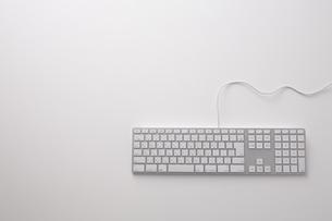 白いキーボードの素材 [FYI00961725]