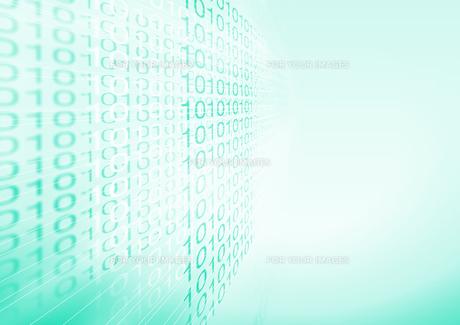 青に0と1の数字の並びの素材 [FYI00961907]