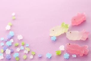 金平糖と金魚のお菓子の素材 [FYI00962615]