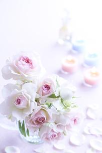 バラとキャンドルの素材 [FYI00962723]