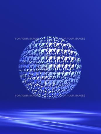 世界地図模様の球体の素材 [FYI00963373]