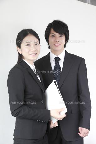 男女ビジネスマンポートレートの素材 [FYI00964075]