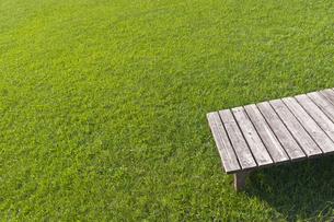 芝生とベンチの素材 [FYI00970730]