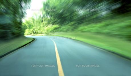 緑の山間道路ドライブの素材 [FYI00971865]