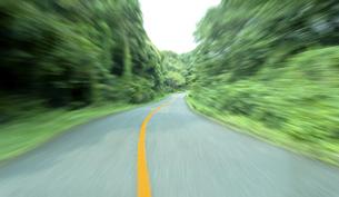 緑の山間道路ドライブの素材 [FYI00971879]