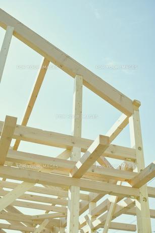 建築中の木造住宅の素材 [FYI00975037]