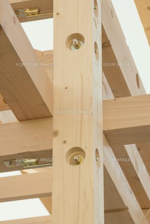 建築中の木造住宅の素材 [FYI00975078]