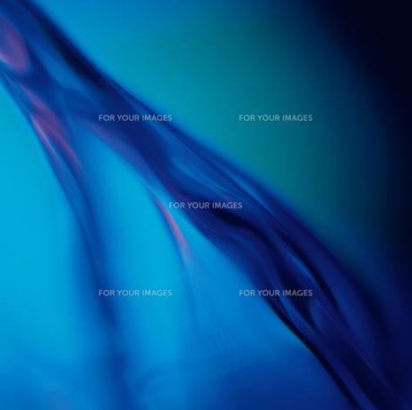 アブストラクト 波と液体(青)の素材 [FYI00982383]