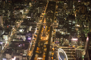 空撮:名古屋テレビ塔とオアシス21の素材 [FYI00982410]