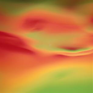 アブストラクト 緑とオレンジの素材 [FYI00982505]