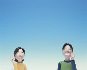 人差し指を立てるカップルのクラフトの素材 [FYI00986258]