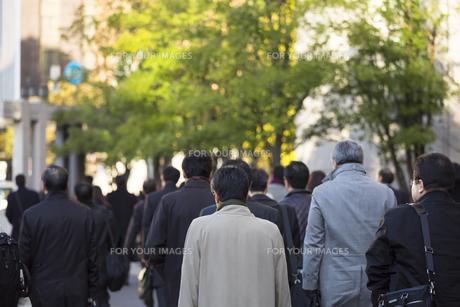 東京の通勤風景の写真素材 [FYI00986352]