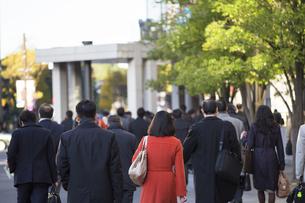 東京の通勤風景の写真素材 [FYI00986353]