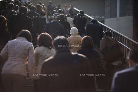 東京の通勤風景の写真素材 [FYI00986377]