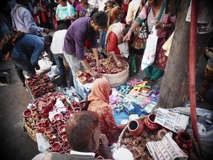 インドのマーケットの写真素材 [FYI00986380]