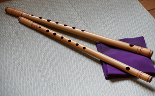 日本の伝統的な笛の写真素材 [FYI00986385]