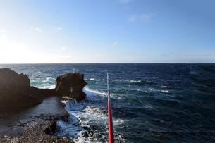 沖縄残波岬の一級釣りポイントの写真素材 [FYI00987375]