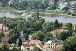 ロシュヴィッツ界隈のエルベ川(ドイツ・ドレスデン)の写真素材 [FYI00987838]