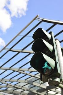 旧東ドイツ時代の歩行者信号(ドイツ・ドレスデン・ポストプラッツ交差点)の写真素材 [FYI00987846]