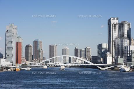 隅田川築地大橋の写真素材 [FYI00987853]